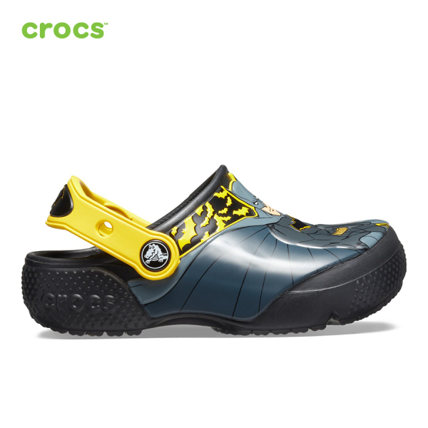 CROCS Giày Lười Trẻ Em FunLab Iconic Batman Clog 205514001