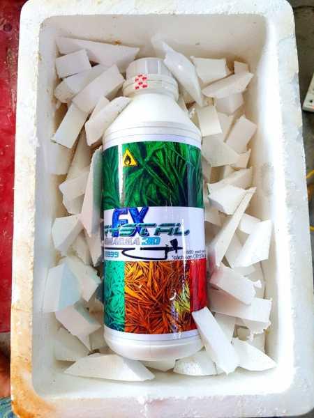 Chất Crystal FX phụ da sơn hiệu ứng pha lê  băng chai 1lit