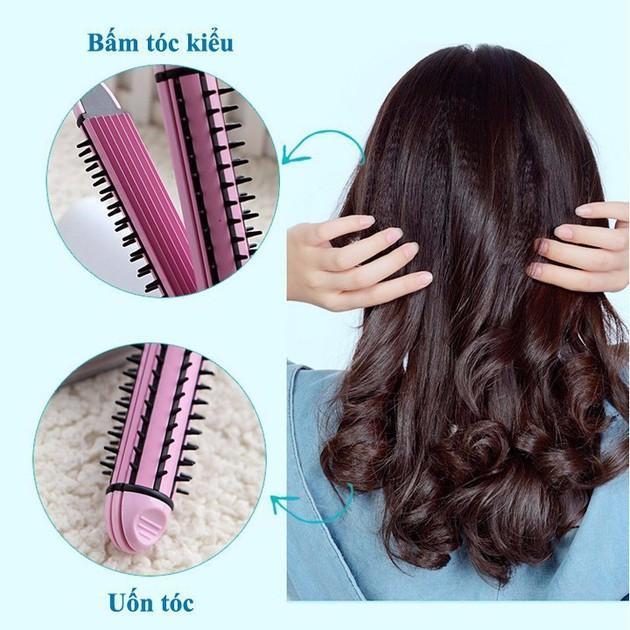 Máy duỗi tóc - máy bấm tóc - máy uốn tóc xù tạo kiểu tóc 3 chức năng cao cấp : duỗi, uốn, bấm tạo kiểu tóc - 3 chức năng trong 1