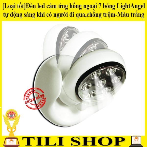 ✅[Loại tốt]Đèn led cảm ứng hồng ngoại 7 bóng LightAngel tự động sáng khi có người đi qua,chống trộm-Màu trắng-Được bán bởi TILI10 SHOP