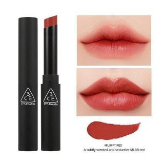Son Thỏi Lì 3CE Slim Velvet Lip Fluffy Red Đỏ đất - Hàn Quốc thumbnail