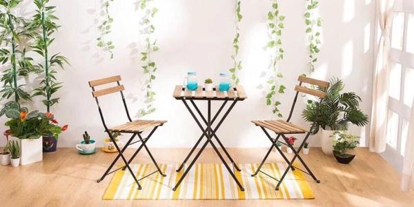 Ghế Gỗ BISTRO Patio Mini gấp gọn ⚡ Tiện lợi ⚡ Ghế cafe - Ghế làm việc văn phòng đa năng, có thể gấp gọn, phù hợp với mọi không gian trong gia đình