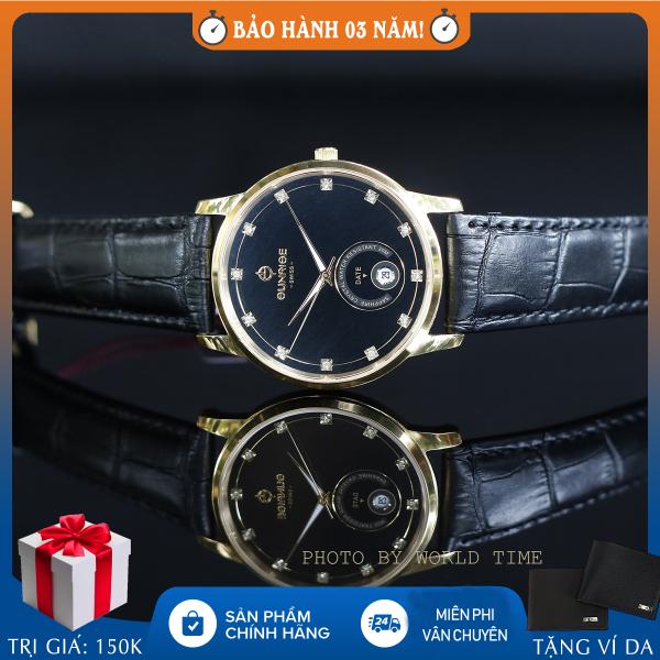 Nơi bán Đồng hồ nam Sunrise 1138SA B full hộp, thẻ bảo hành 3 năm, sapphire chống xước, chống nước, dây da