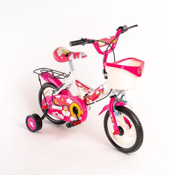 Mua Xe đạp 2 bánh màu trắng hồng cho bé gái 3-5 tuổi Size 12-14inch