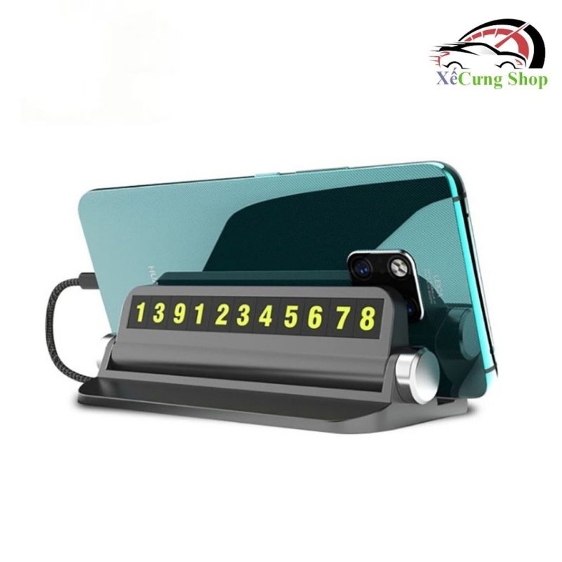 Bảng ghi số điện thoại cho ô tô, xe hơi phát quang kèm đế cài điện thoại tiện dụng( Đen)