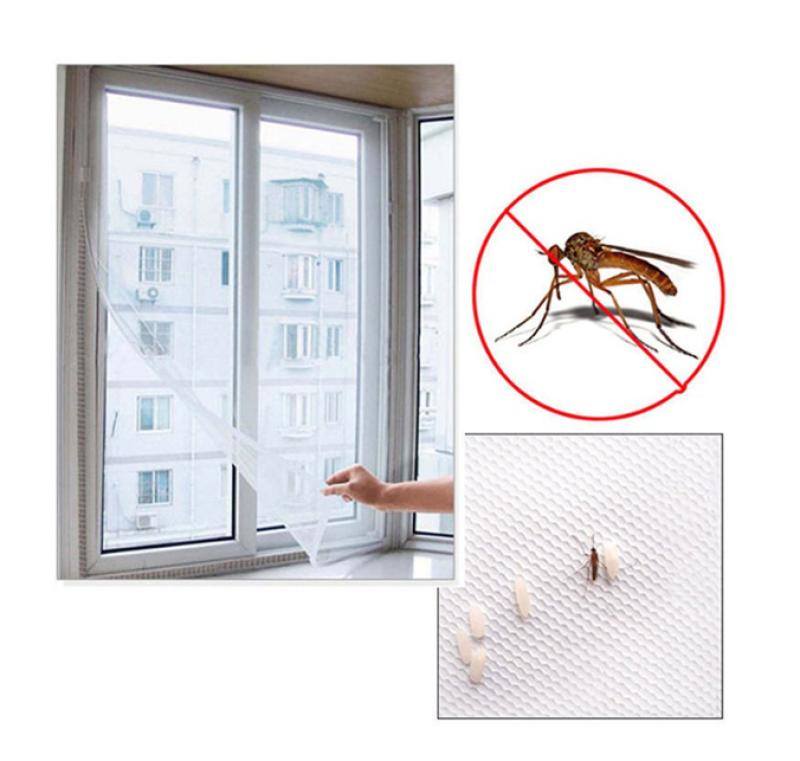 Rèm cửa trang trí chống muỗi, lưới dán cửa sổ chống muỗi, lưới chắn muỗi 1.3m x 1.5m cms1328