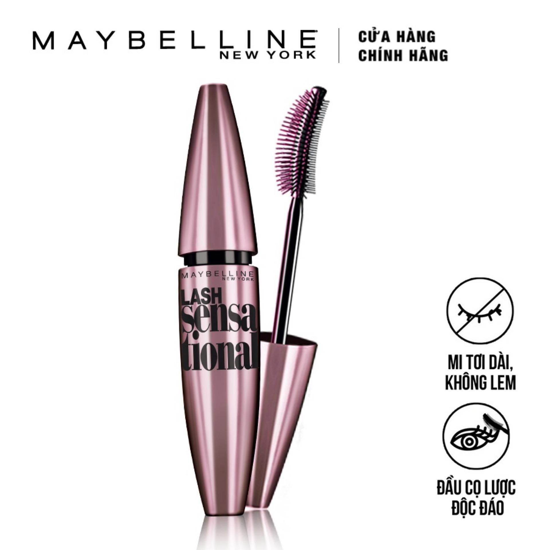 Mascara làm dài và tơi mi Maybelline New York Lash Sensational 10ml (Đen)