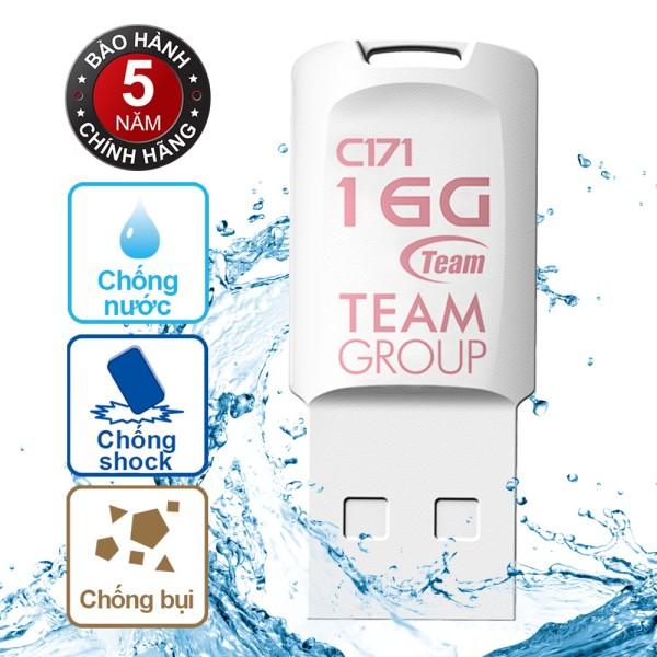 Bảng giá USB 2.0 Team Group C171 16GB chống nước Taiwan (Trắng) - Hãng phân phối chính thức Phong Vũ