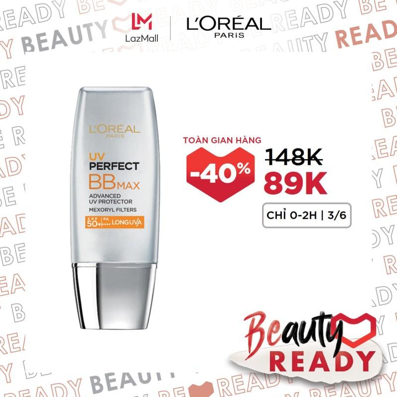 Kem chống nắng bảo vệ & dưỡng da trang điểm LORÉAL BB Cream UV Perfect Max SPF 50+ PA+++ 12h 30ml giá rẻ