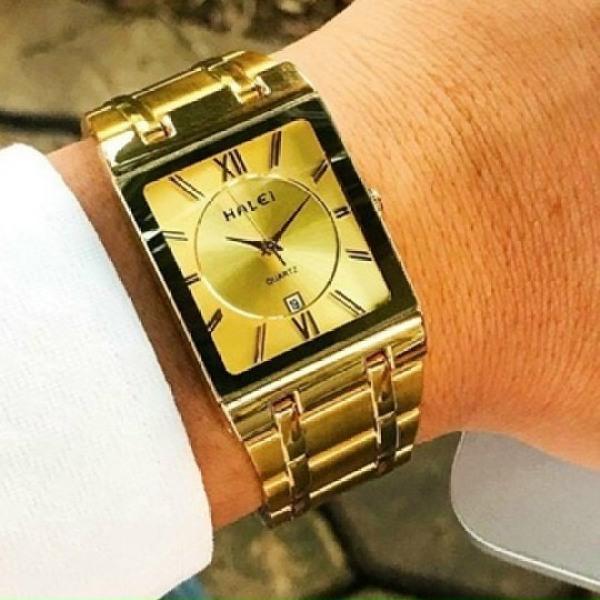 Nơi bán Đồng hồ thời trang nam Halei 564M Hln1 mặt vuông dây kim loại sang trọng