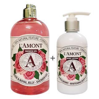 Sữa tắm 500ml và Dưỡng thể 250ml LAmont En Provence Hương Hoa Hồng thumbnail