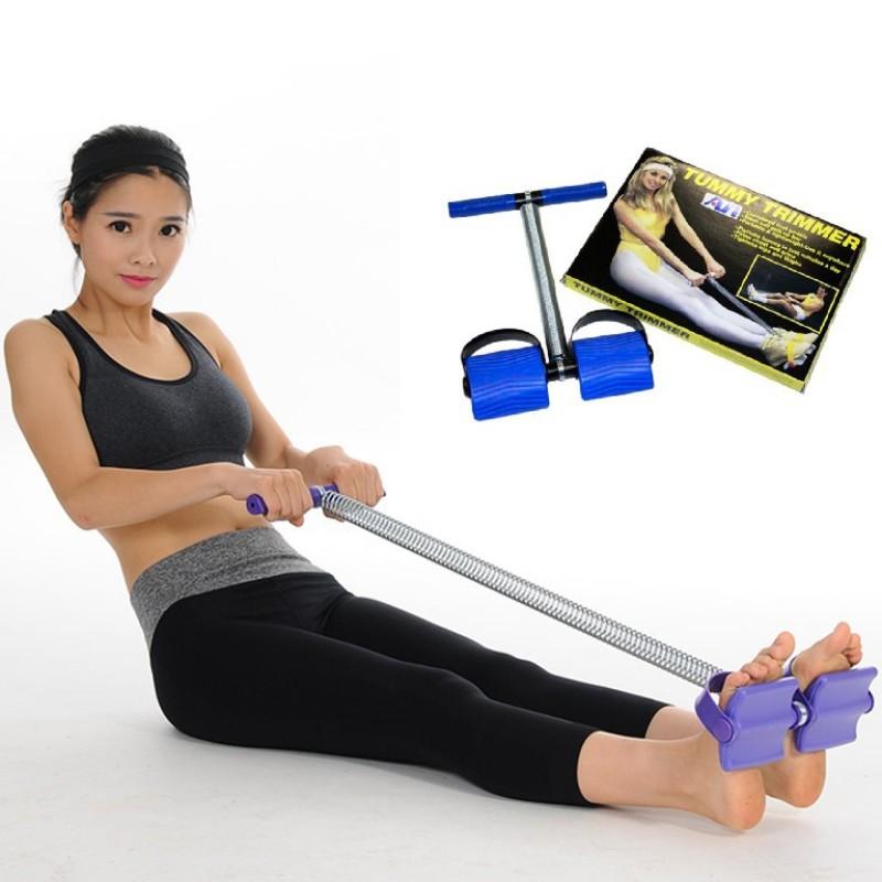 Dây kéo lò xo tập cơ bụng eo thon cao cấp - Dây tập eo và lưng, Dụng cụ tập thể dục đa năng, dây kéo lưng bụng
