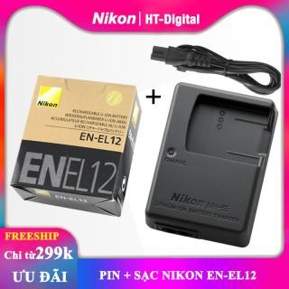 Pin + sạc máy ảnh Nikon EN-EL12 thumbnail