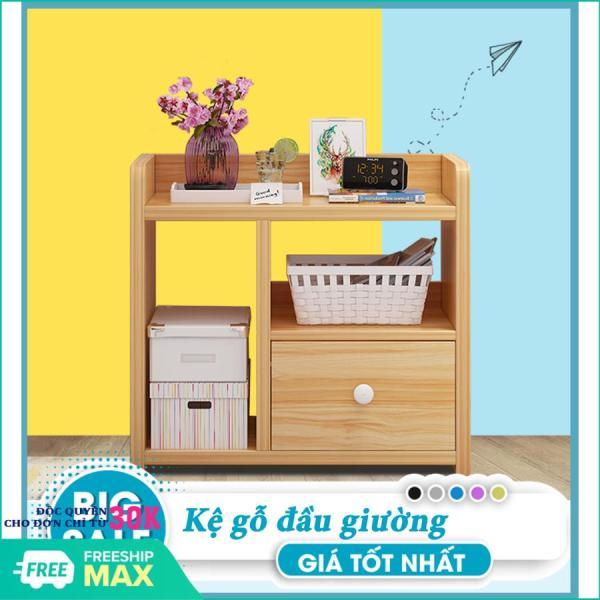 Tủ gỗ đầu giường - Táp gỗ đầu giường - Kệ gỗ để đồ- Kệ gỗ- 1 Ngăn kéo, thiết kế sang trọng nhã nhặn phù hợp với mọi phòng ngủ