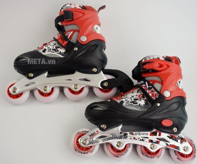 Giá bán Giày trượt Patin Long Feng 906 - Đen, xanh, đỏ - Size S,M, L (30 - 42)