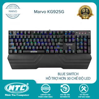 [HCM]Bàn phím cơ blue switch Marvo KG925G led RGB cực chất - hơn 30 chế độ led khác nhau (Đen) - Nhất Tín Computer thumbnail