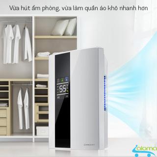 Máy hút ẩm lọc không khí Yangzi CS-10E hiển thị nhiệt độ kèm điều khiển làm khô phòng 10-30m2 thumbnail