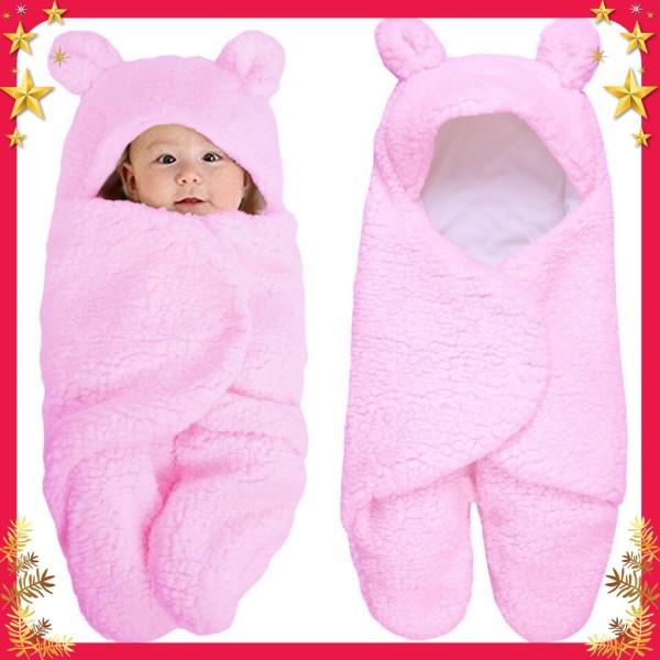 Chăn quấn lông cừu ủ kén Baby Blanket hình thú cao cấp cho bé yêu mẫu mới 2021
