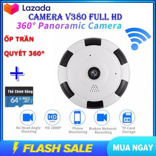 (Kèm Thẻ Nhớ 64 Gb,BH 5 Năm) camera wifi Full HD 2.0 mpx 1920 X 1080P,camera ốp trần,camera không dây, camera siêu nhỏ tầm qua sát rộng,ghi âm ghi hình, quan sát cả ngày đêm thumbnail