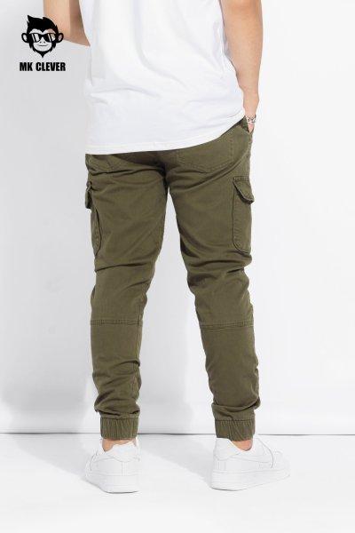 Quần jogger kaki túi hộp - Quần nam vải co giãn, dáng đứng, cá tính, đủ size - Quần áo thời trang MK Clever -  QJK01
