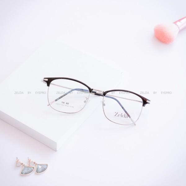 Giá bán [LẮP SẴN CẬN]Gọng kính cận nữ, kính cận vuông Z2713