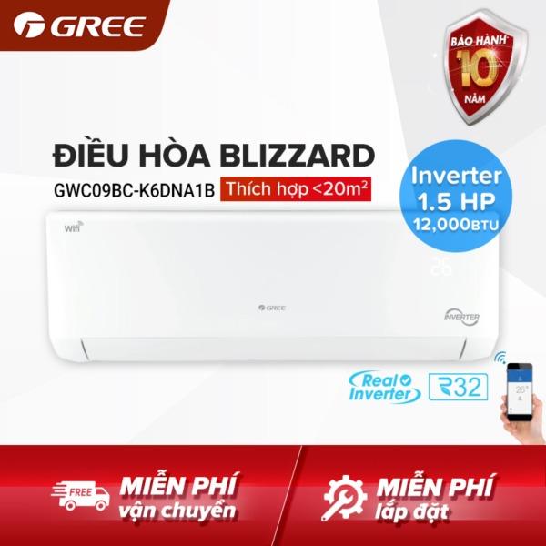 Bảng giá Điều hòa GREE- công nghệ Real Inverter, Wifi - 1.5 HP (12.000 BTU) - BLIZZARD GWC12BC-K6DNA1B (Trắng) - Hàng phân phối chính hãng Điện máy Pico