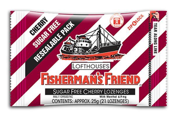 Kẹo Cay Con Tàu Fisherman's Friend Vị Anh Đào Cherry & Menthol