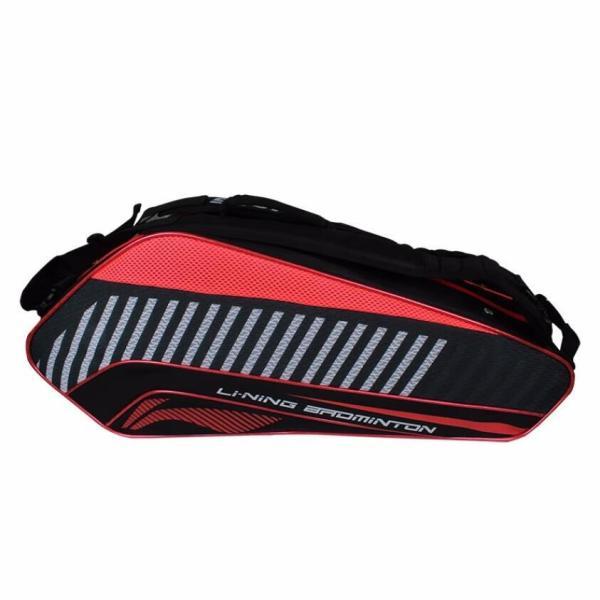 Bảng giá Túi đựng vợt cầu lông LiNing ABJ054-1 cao cấp tiên ich màu đen phối đỏ