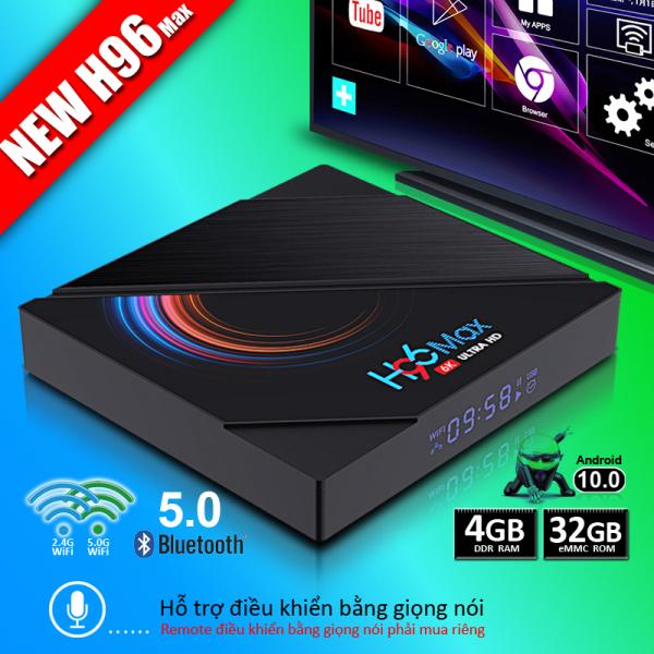 [HCM]Tivi box Ram 4G bộ nhớ 32G hỗ trợ tìm kiếm bằng giọng nói android tv box bluetooth 4.0 băng tần wifi kép xem phim 4K sắc nét bảo hành 1 năm box tivi android
