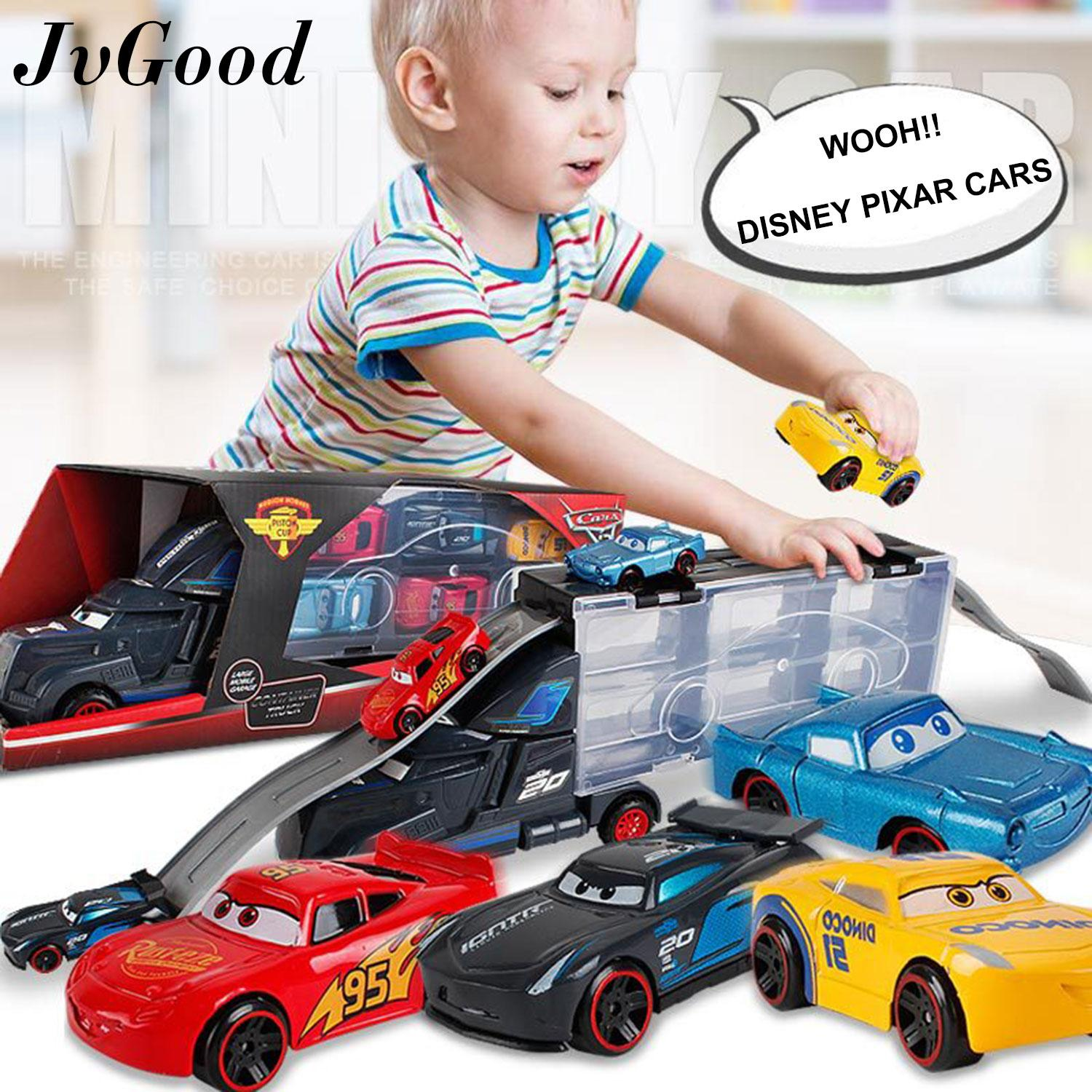 Jvgood 6 In 1 Vehicle Playsets Mcqueen Pixar Cars 3 Jackson Storm Daniel Swervez Mack Uncle Truck Hauler And 6pcs Mini Model Car Figure Toys Playsets Best Gifts For Kids By Jvgood.