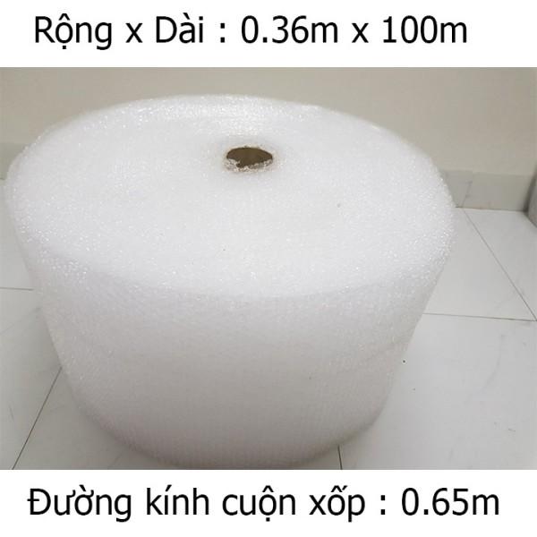 Cuộn xốp bong bóng 100m x 0.36m gói hàng chống sốc - Cuộn bóng khí, Màng xốp hơi chất lượng cao - Hàng loại 1