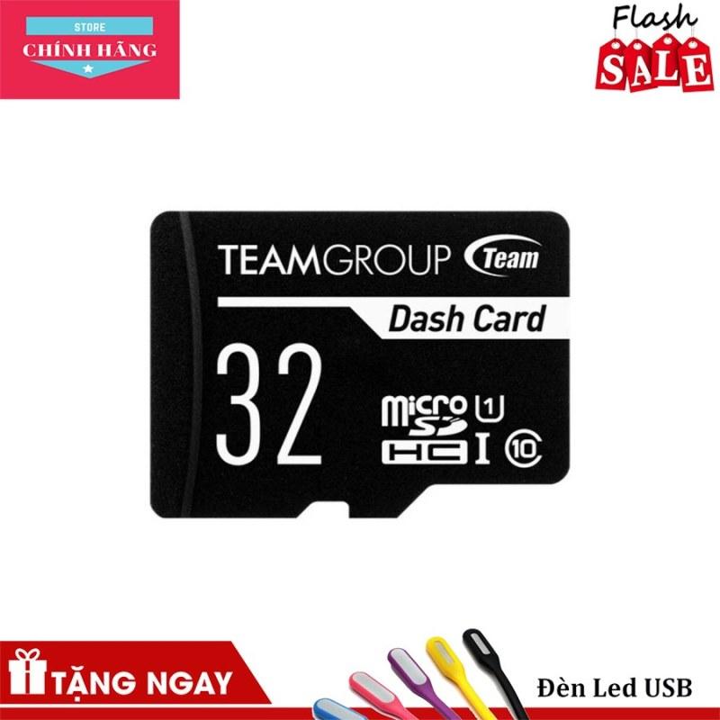 Thẻ nhớ microSDHC Team 32GB chuyên dụng cho Camera up to 80MB/s class 10 U1 (Đen) -