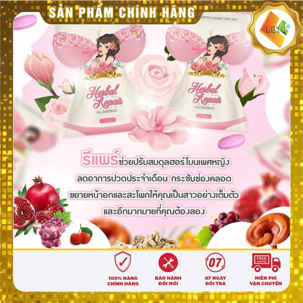 [Hàng - Auth] Nở Ngực Thái Lan Busama [3 gói] ( 1 gói 7 viên ) che tên khi giao hàng tăng nội tiết tố, Tăng vòng 1,Tăng sinh cogalen, trắng da, bổ xung vitamin