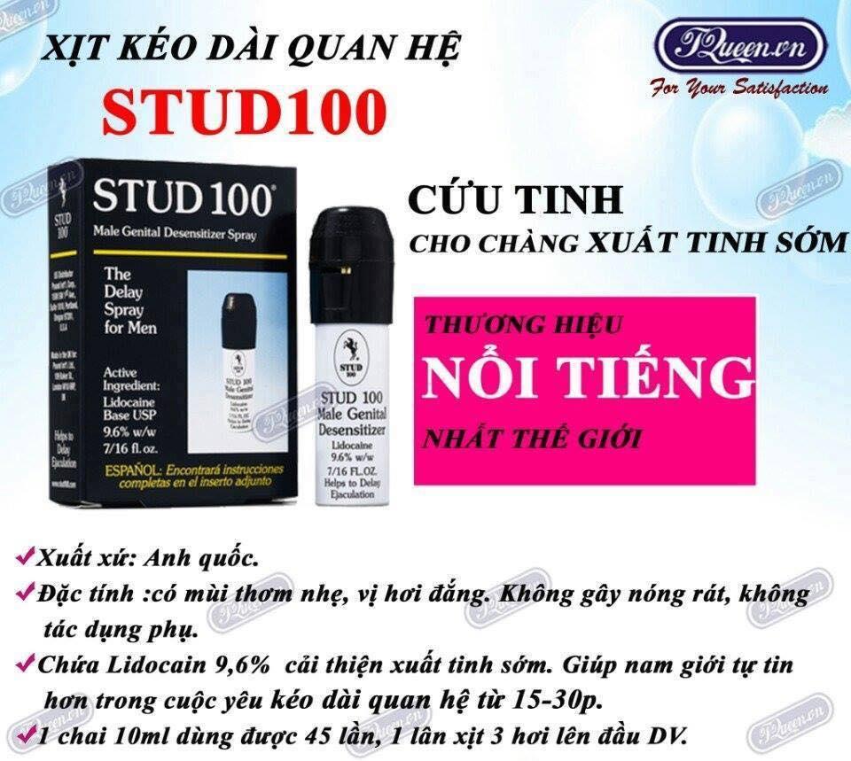 Chai xịt chống xuất tinh sớm Stud 100 nhập khẩu