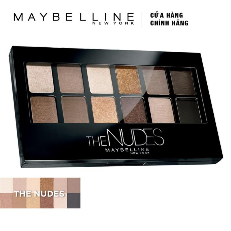 Bảng phấn mắt Maybelline New York The Nudes Palette 12 màu 9g cao cấp