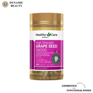 [Hàng chuẩn Úc] Viên uống tinh chất hạt nho Healthy care grape seed 58000 200 viên bổ máu và chống lão hóa của Úc thumbnail