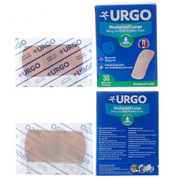 Băng cá nhân URGO bản lớn (Hộp 30 miếng)