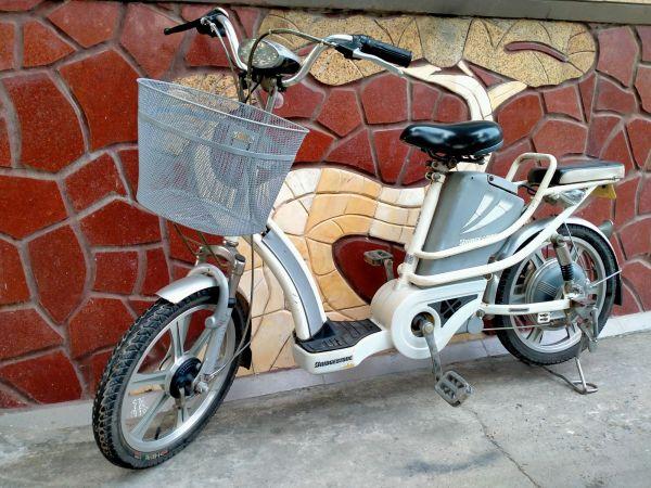 Mua Xe đạp điện Bringeston nhập khẩu màu trắng đã qua sử dụng