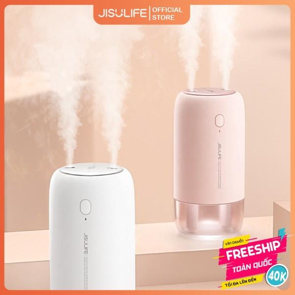 Máy phun sương Jisulife JB08 - Tạo ẩm không khí và giữ ẩm da 500ml - Hai chế độ phun đơn và kép – Máy tạo ẩm không gian thư giãn kiêm đèn ngủ LED để bàn tiện lợi, hoạt động tối đa 10 giờ liên tục - Bảo hành 24 tháng chính hãng