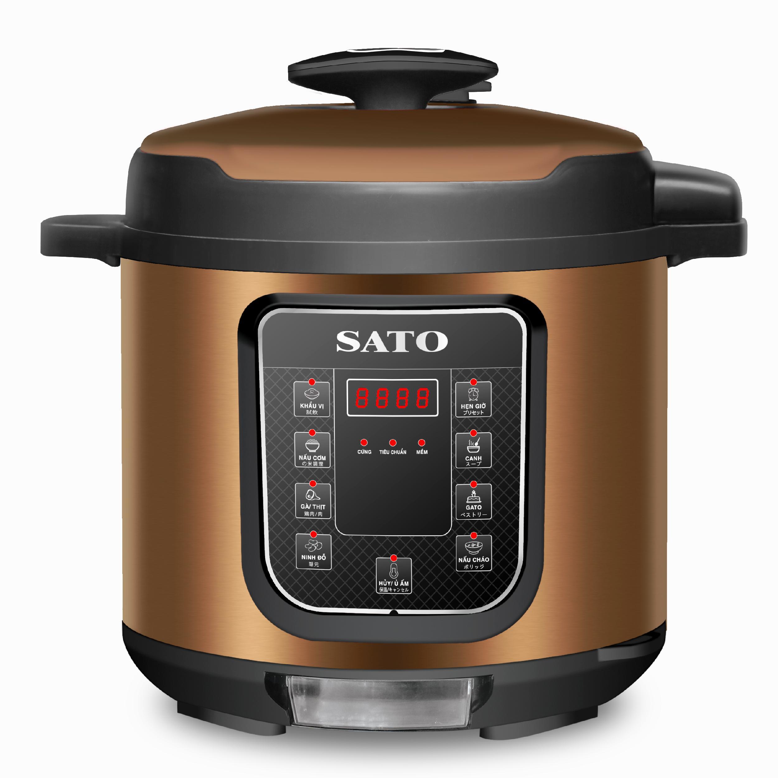 Nồi áp suất điện tử đa năng SATO ST-615PC (D) (Màu nâu)