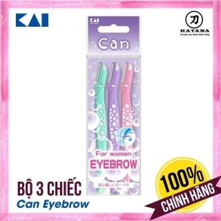 Dao cạo lông mày Nhật Bản Can Eyebrow - Bộ 3 chiếc thumbnail