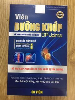 VIÊN DƯỠNG KHỚP - BỔ SUNG DƯỠNG CHẤT CHO KHỚP - viên dưỡng khớp DP joints - Viên uống nuôi dưỡng và phục hồi sụn khớp, hỗ trợ giảm viêm khớp thumbnail