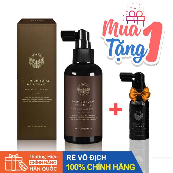 Tinh Dầu Kích Mọc Tóc TERAPIC Premium Total Hair Tonic 150ml - Tặng kèm chai Mini 30ml nhập khẩu