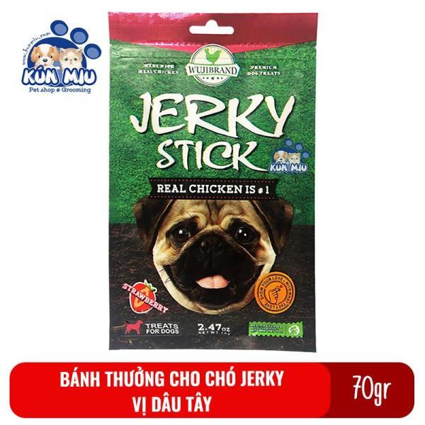 Bánh Thưởng Cho Chó Jerky 70Gr Vị Dâu Tây