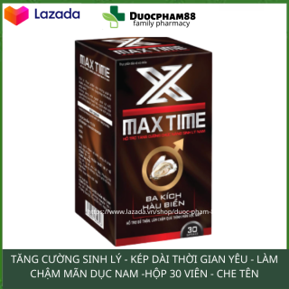 Tăng cường sinh lý nma giới kéo dài thời gian quan hệ MAXTIME hộp 30 viên HSD 2023 thumbnail