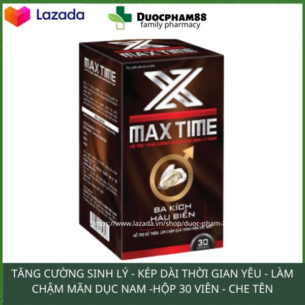 Tăng cường sinh lý nam giới kéo dài thời gian quan hệ MAXTIME hộp 30 viên HSD 2023 giá rẻ