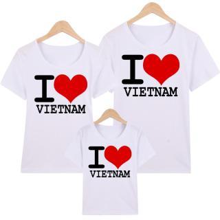 Áo Thun Gia Đình in hình I Love Việt Nam EGDM50 Thương Hiệu Elsa thumbnail
