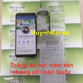 Trắng da mờ nám tàn nhang Melaclear Plus Hàn Quốc lọ 120 viên thumbnail