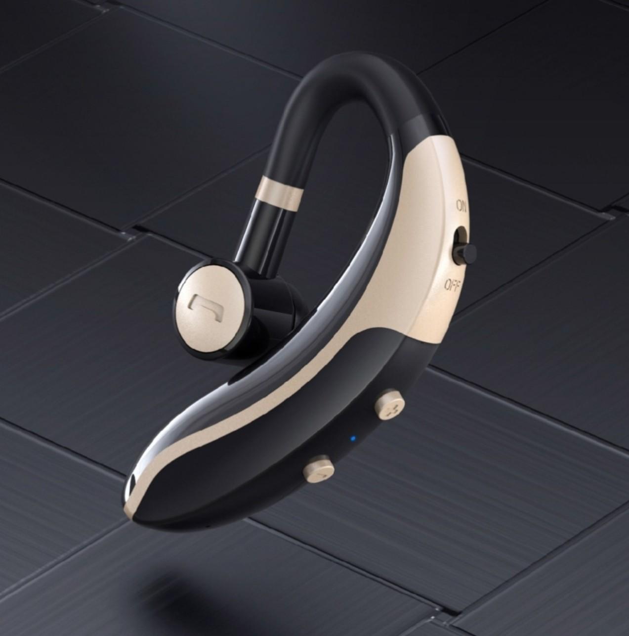 Tai nghe bluetooth , model V6 , tai nghe đơn, tai nghe  móc tai xoay 180 độ ,kết nối 5.0, thời gian nghe nhạc đàm thoại 8h , pin 140 mAh.