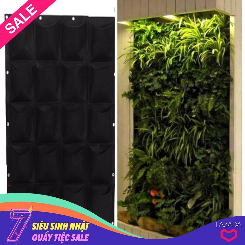 Combo 2 bộ túi trồng cây treo tường 40 ô  túi trồng (100 x 50cm) - Kmart